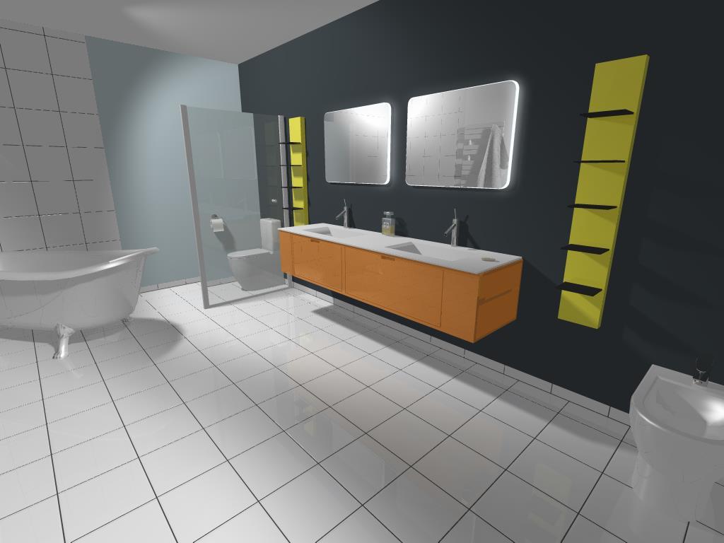 rendu salle de bain 3D