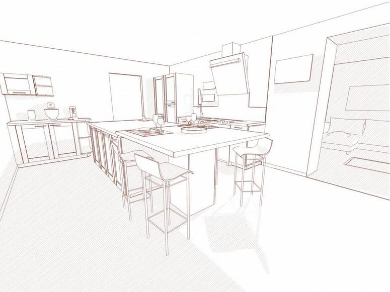 rendu dessin technique cuisine logiciel kodes3d